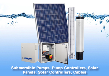 Pumps, Controllers, Solar Panels & Cables